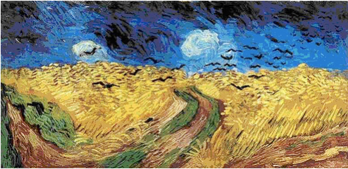 "Van Gogh's painting, ""Wheat Field With Crows"", 1890"