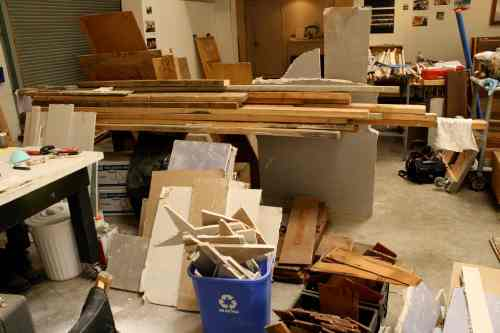 Jane's treasure trove of salvaged materials