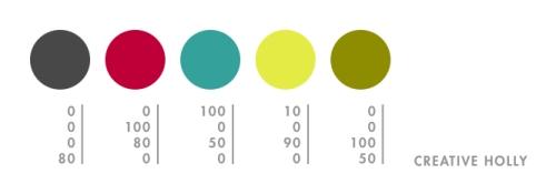 Creative Holly's CMYK Color Palette