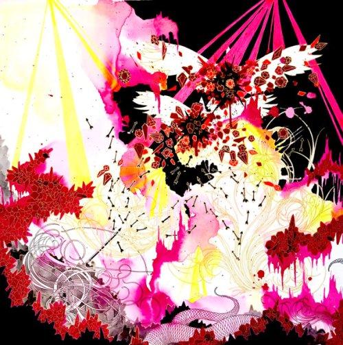 """Black Roses Tell a Story"", 20""x20"", 2008"