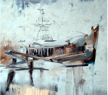 """""""Ahab"""", 2008, oil on canvas, 71""""x79"""""""