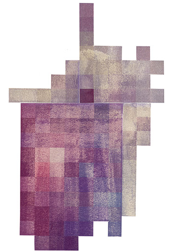 """""""Bruise 4"""", Transfer on paper, 22""""x30"""", 2007"""
