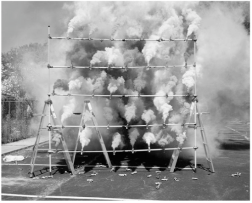 "Olaf Breuning, ""Smoke Bombs"""