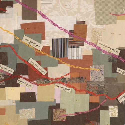"""Los Angeles Fault Zones Map Quilt"" (detail, San Andreas Fault)"